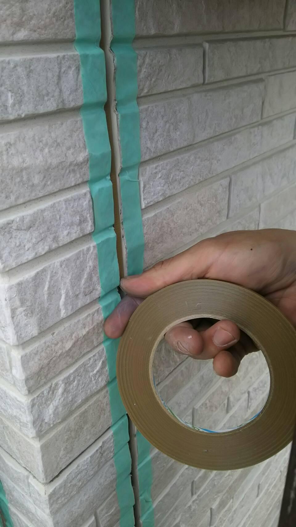 紙テープ施工