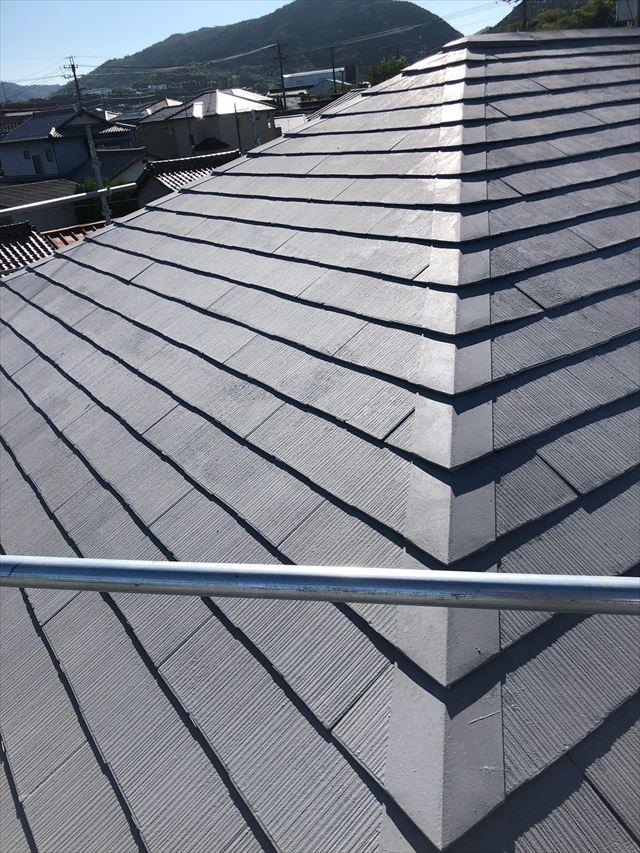 スレート屋根、上塗り塗装