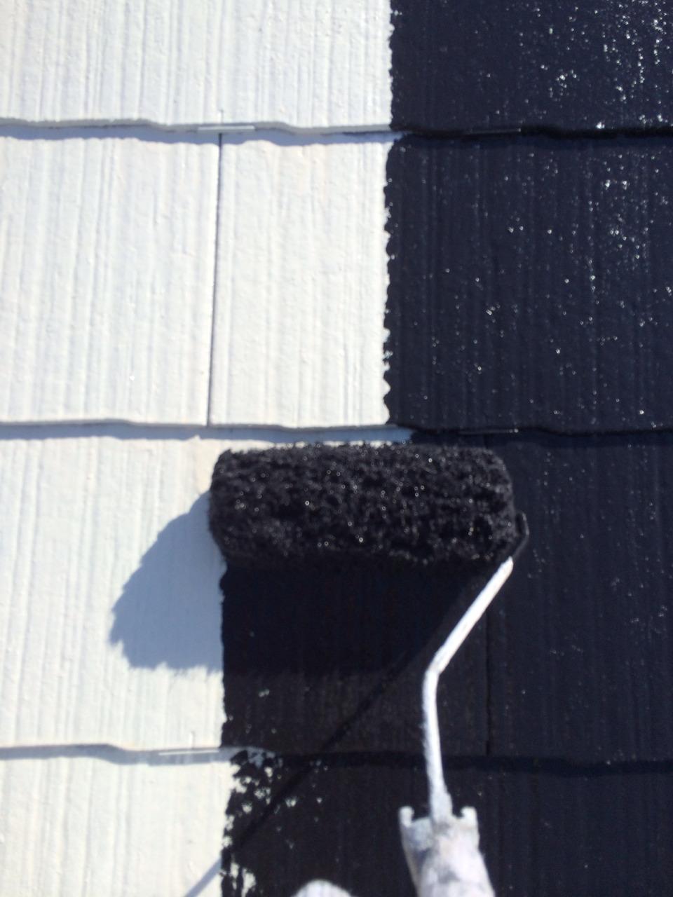 屋根中塗り完了