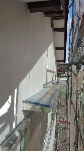 軒天、外壁の塗装