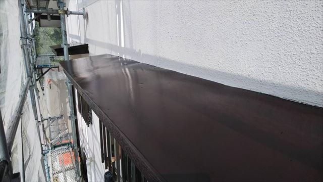 小庇の塗装