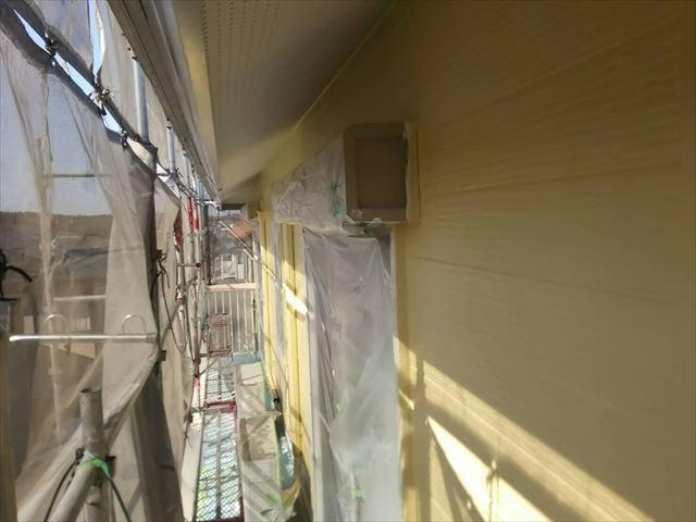 外壁の上塗り完了です
