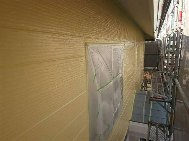 外壁の中塗り完了です