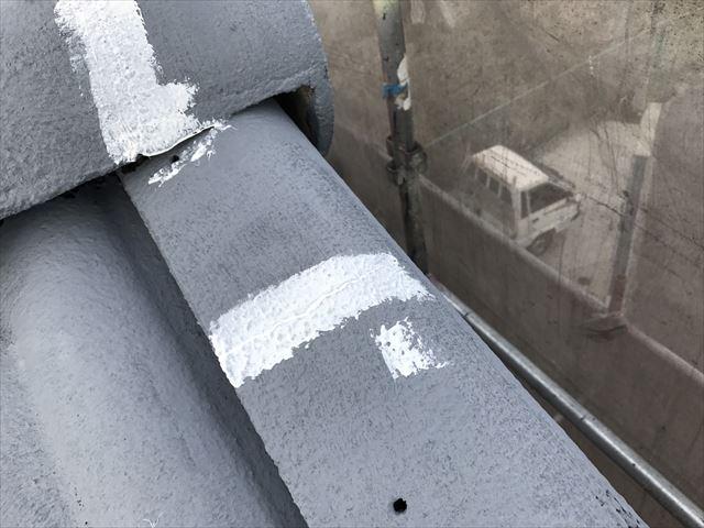 棟板金の亀裂補修です
