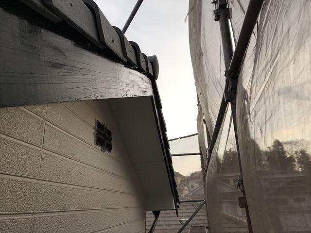 破風板の塗装、完了です