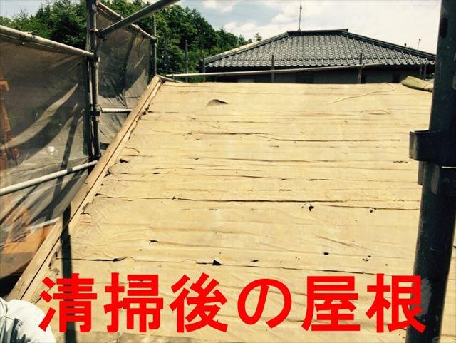 清掃後の屋根