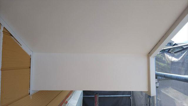 軒天の塗装完了