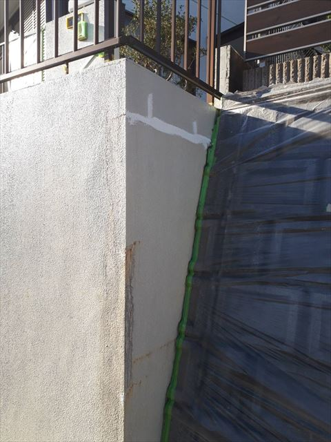 ブロック塀のコーキング補修