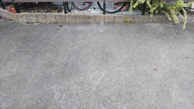 春日井市、駐車場の洗浄