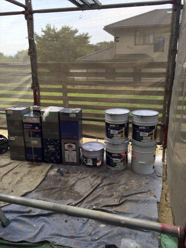 使用する塗料缶です。