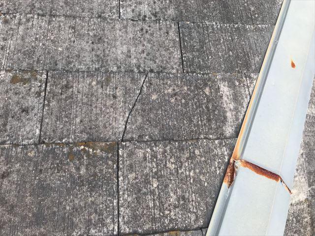 屋根棟板金のサビ発生