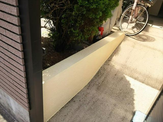 塀の塗装完了です