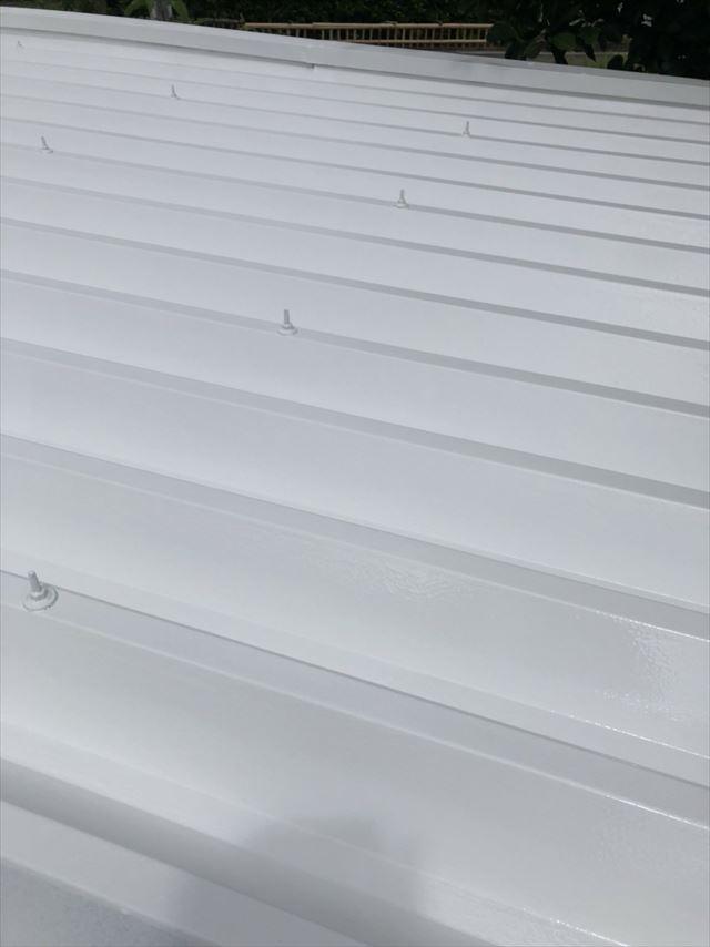 折半屋根の下塗り2回目、完了