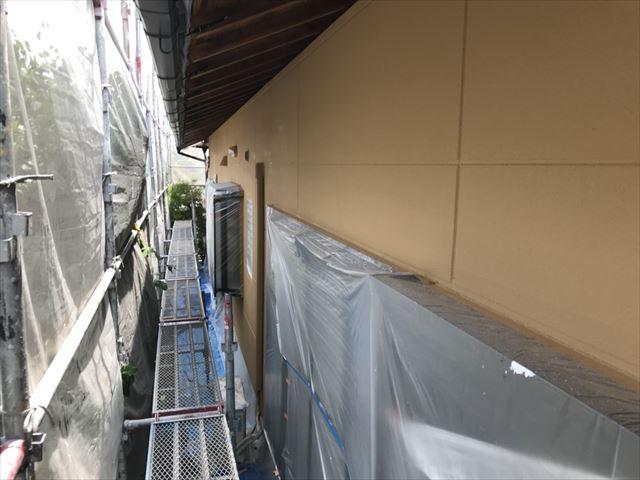 春日井市、外壁の上塗り完了