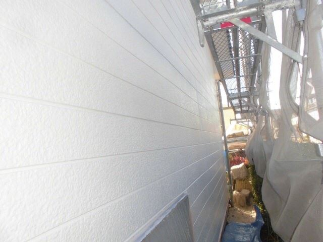 外壁の下塗り2回目、完了です