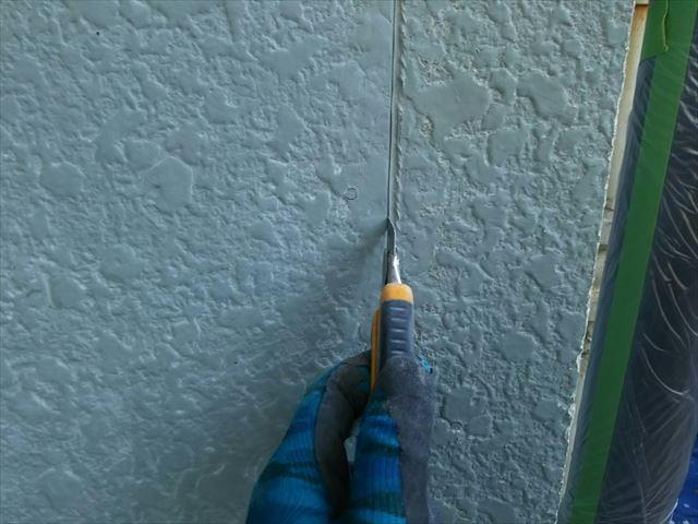 既設のシーリング材の撤去