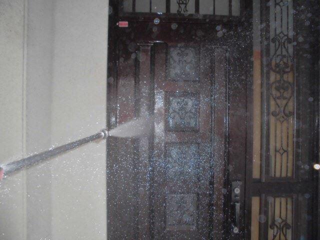 小牧市、玄関ドアの洗浄