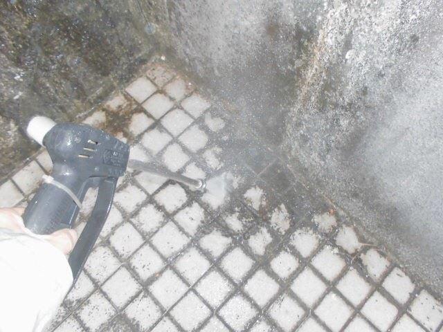 玄関ポーチの洗浄