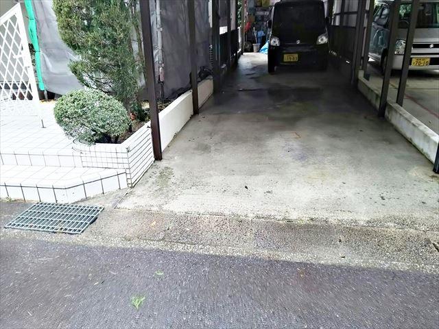 小牧市、駐車場の洗浄