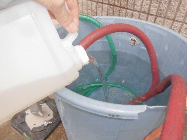 バイオ洗浄、高圧水洗浄