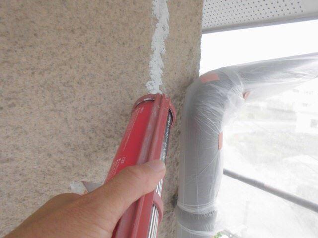 外壁クラックのコーキング補修