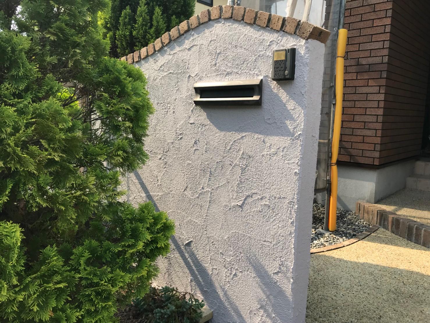 ブロック塀の塗装、完了