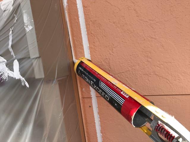 窓まわりのコーキング補修