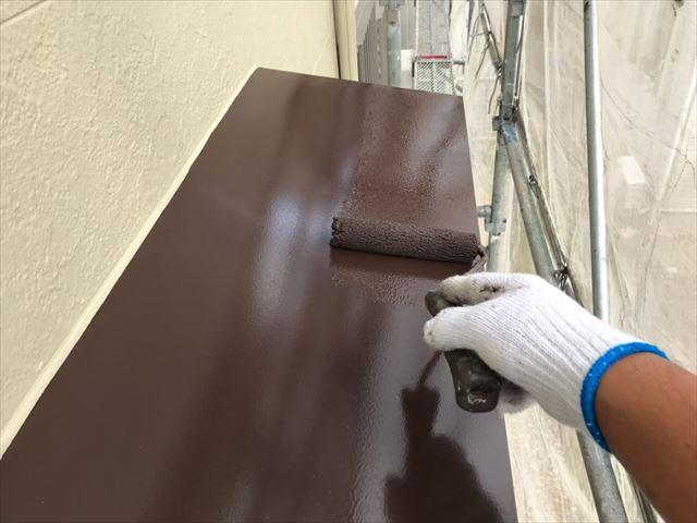 小庇の天板の塗装です