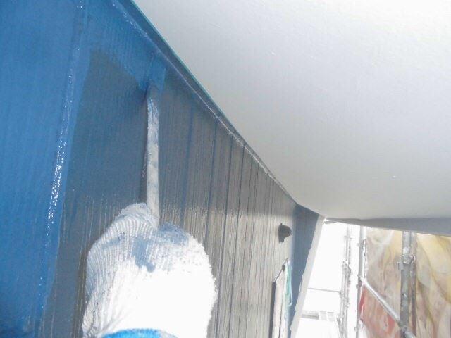 春日井市西高山町で外壁上塗り塗装