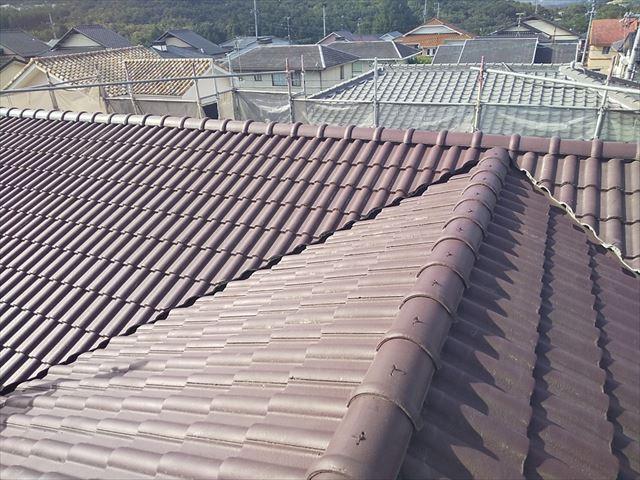 洗浄後の屋根です