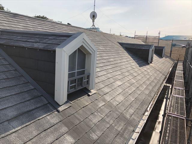 屋根の洗浄後です