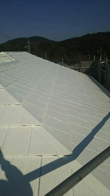 屋根下塗り 2回目完了
