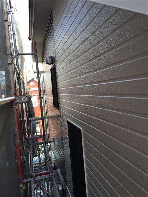 外壁の塗装、完了です