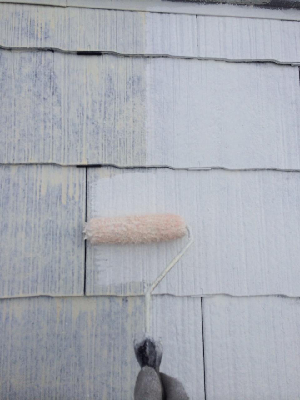 屋根下塗り2回目完了
