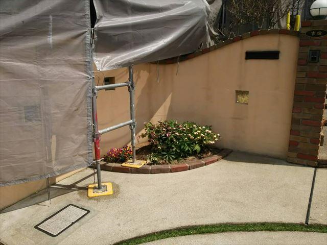 玄関前のアプローチ洗浄です