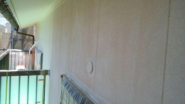 外壁下塗り塗装、完了です
