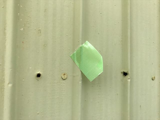 トタン外壁の止めている釘が無い