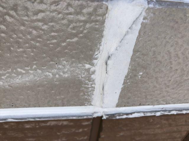 幕板の隙間、コーキング補修