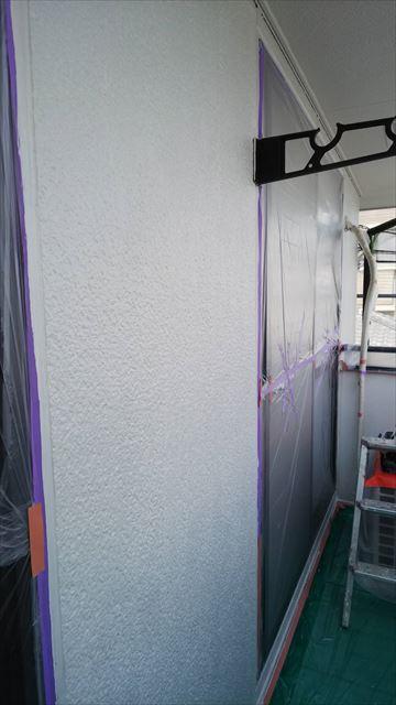外壁の下塗り完了