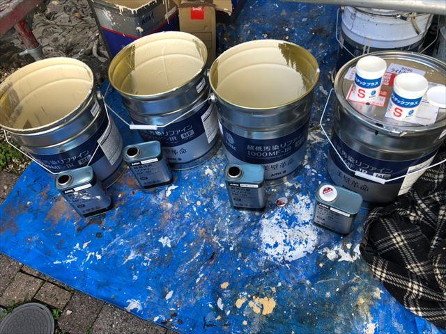 使用後の塗料缶です