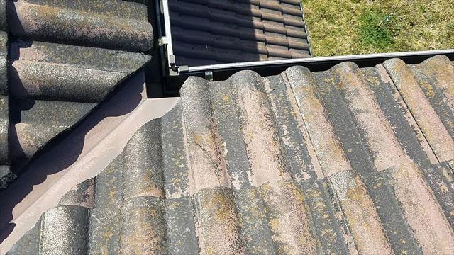 既存の屋根の色あせ