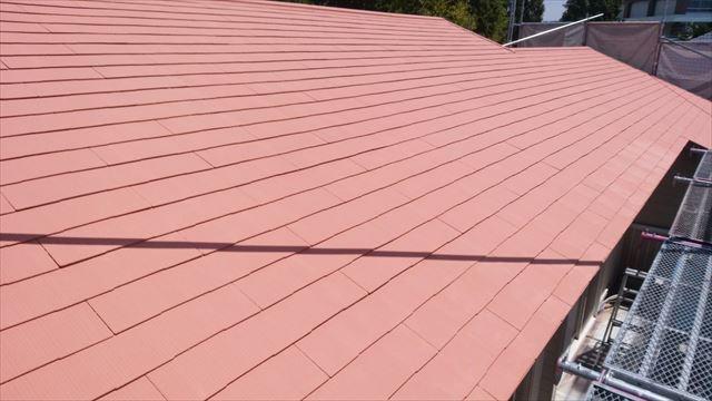 春日井市、屋根の上塗り完了