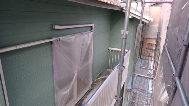 外壁の中塗り完了