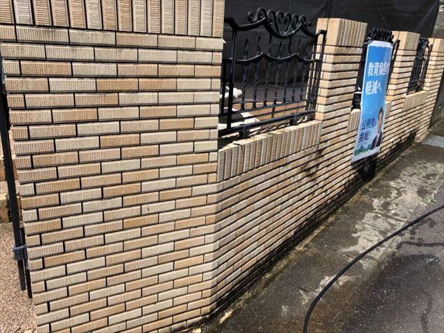塀の洗浄です