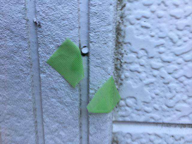 サイディング外壁の釘の隙間