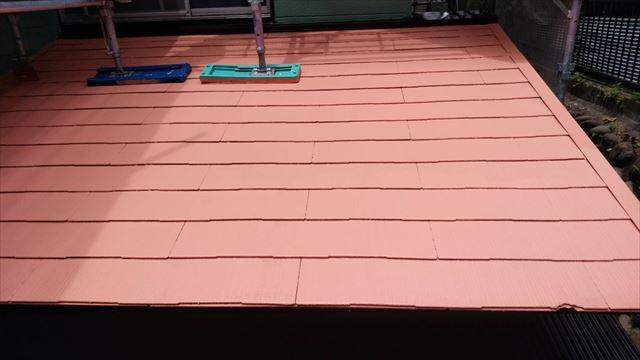 屋根の上塗り完了