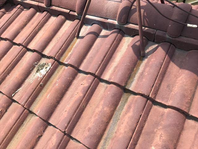 屋根の塗膜の劣化
