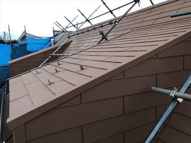 屋根の上塗り完了です