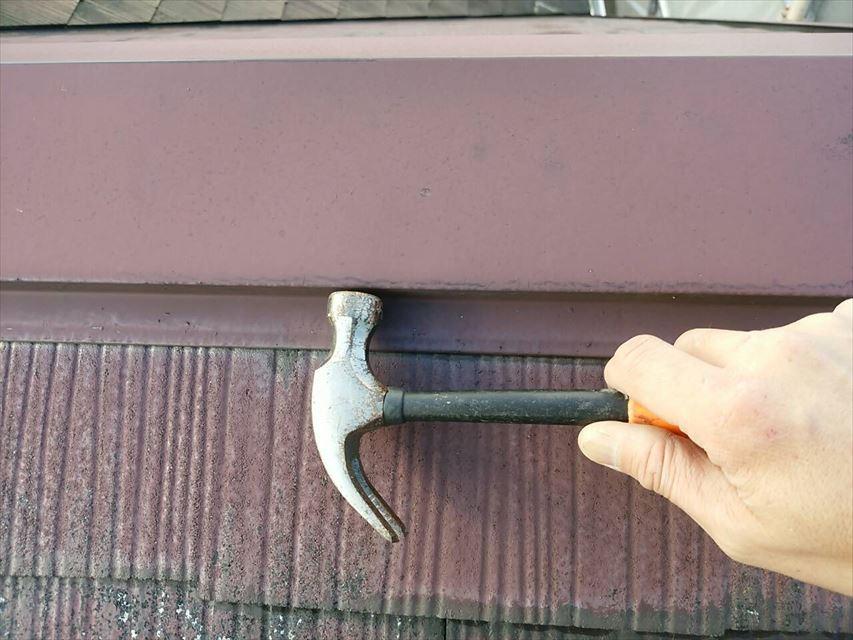 屋根釘打ち補修完了