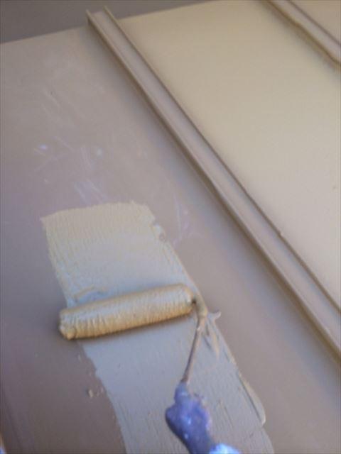 トタン屋根の下塗り